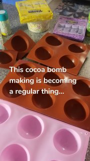 This cocoa bomb making is becoming a regular thing...